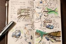 travel sketch / travel experiences through sketching