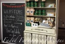 Websters Displays / We are so lucky to have such amazing retailers & stockists worldwide! Their talent shines through in their painted pieces, as well as their Websters Chalk Paint Powder displays. Check out the beautiful and creative displays here!