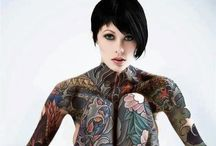 Pin ups - tattooed
