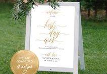 Wedding signs Printable