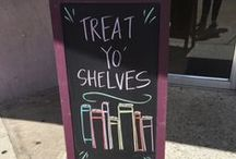 Bookish Signs & Chalkboards / Spotted: adorable bookstore signs