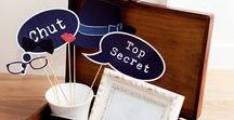 Anniversaire Agent secret / Espion / Idées pour un anniversaire ou un goûter sur le thème des agent secrets et espions en tous genres...   Attention, cette page s'auto-détruira 5 secondes.