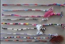 Hair wraps with charms  / http://www.facebook.com/IslandHairBraidsNZ