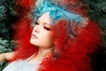 Pastel Hair Colours / Add instant colours to excisting hair design! Create with clip on hair extensions or splashes of instant colour... available at http://www.chiquel.com.au/prodcat/40/Long-Human-Hair-Extensions/product/473/Splice-Curls-40cm.aspx
