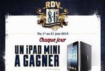 JEU RDV DU 8.6 / Le RDV du 8.6 : jeu Facebook du 1er au 21 juin 2013. Chaque jour un ipad mini à gagner et 86 objets collector 8.6 à gagner. Vous devez être majeur pour suivre ce board.