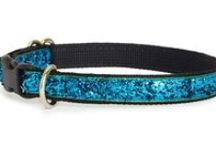 Cat Collars at wwwChloeCole.com / Soft to the touch, fabulous shimmer, high-fashion sparkle dog and cat collars, all hand made in the USA. Glitter dog and cat collars are perfect wedding collars or as everyday bling for your pet! Cat collars have a breakaway buckle and bell and dog collars have a nickel D ring to attach your matching leash! http://www.chloecole.com/Glam-and-Glitter-Dog-Collars_c330.htm #ChloeColePetCouture, #catcollars, #GlamGear, #cat,