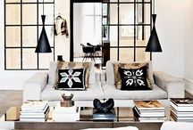 ● INTERIOR | Living Room ● / Light bright spaces, neutrals, wood, white walls, and a little bit of color