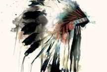 DreamCatchers & HeadDresses / For the native american inside me. (Im a 16th Native American)  / by Phoebe Edgington