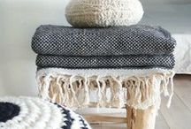 ● INTERIOR | Textiles ● / Blankets, pillows, rugs, beddig, towels, cushion, fabrics