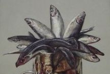 Fish Paintings by Andy Swani / All oil on canvas