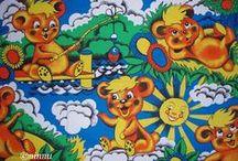 Vintage fabric / children