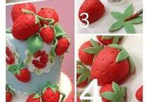 Popis - postup / postupy, výroba dekorací na dorty a zákusky