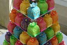 cupcakes - set / kapkejky s dortem