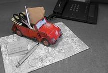 Kult-Auto VW Käfer / Die Sympathie für den VW Käfer ist ungebrochen. Der kurvenreiche Kultwagen kommt Dank Werkhaus als Zettel- und Stiftebox, Bücher-Cabriolet oder Hocker zum Zusammenstecken daher.