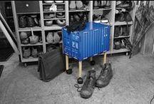 Container-Revolution! / Globetrotter-Flair für zu Hause oder das Büro! Werkhaus schickt ein ganzes Sortiment origineller Möbel und Wohn-Accessoires im Look des umtriebigen Weltenbummlers auf die Reise.