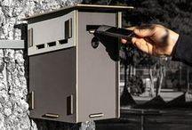 Kisten zum Nisten! / Nistkästen aus Recyclingholz - ohne Metall! - zum Zusammenstecken. Mit austauschbarem, kompostierbarem Einsatz zum leichteren Saubermachen!