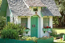 Cozy Cabins, Cottages, Tiny Houses & Bungalows + Plans / by Jane Morrison