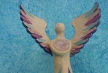 Healing Heart Angels / I created the very first Healing Heart Angel after my dear daddy died in 2005. Having used money from his inheritance to buy a ceramic kiln was all that was needed to create angel sculptures for others too. It is such a joy to channel angelic vibration into sculptures!!  You can read all about them and how to order one for yourself on: http://www.angellightheart.com/wp/healing-heart-angels/ http://angellightheart.nl/wp/healing-heart-angel