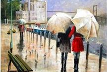 Parasols and Parapluies / Parasols and parapluies (umbrellas) in all colors, shapes, and patterns - as seen in art, design and daily life all around the world. / by Patricia Parden