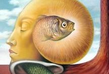 "One Man's Fish is Another Man's ""Poisson"" / Fishies in art, illustrations, vintage and current / by Patricia Parden"