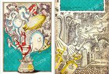 Illustrations, flyers / La Fée qui Cloche / La Fée qui Cloche est une marque respectueuse de l'environnement proposant des créations illustrées et colorées en matières biologiques, naturelles et recyclés / www.lafeequicloche.fr