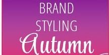 """00 // """"Autumn"""" Style — VISUAL BRAND STYLE CONCEPT // / When creating your Brand Styling keep your seasonal personality in mind!  CREATING A POWERFUL VISION  Looking at first of all how you can identify your seasonal personality and then, how to express that through your choice of type, colour, pattern and textures to create a unique and engaging brand identity. Firstly, start with your mood board and image language."""