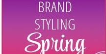 """00 // """"Spring"""" Style — VISUAL BRAND STYLE CONCEPT // / When creating your Brand Styling keep your seasonal personality in mind!  CREATING A POWERFUL VISION  Looking at first of all how you can identify your seasonal personality and then, how to express that through your choice of type, colour, pattern and textures to create a unique and engaging brand identity. Firstly, start with your mood board and image language."""