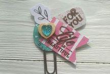 Bookmarks. Paper clips. / bookmarks for books,  sketchbooks, planer