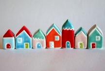 houses - my little village :) / by Brigitta Gábor (boGár krea)