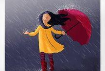 illustration - rainy day