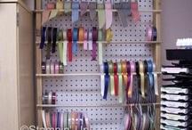 Craft Room Organization / www.barbstamps.com - how I organize my craft room
