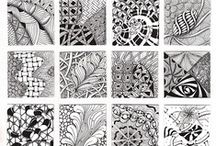 Tangles / Some traditional zentangle patterns, some zentangle examples and some innovative works. All lovely! / by Janet H