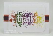 Fall Thanksgiving Projects / www.barbstamps.com - Project ideas for Fall and Thansgiving