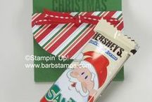 Christmas Crafts / www.barbstamps.com - Fun and easy project ideas for Christmas
