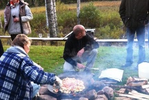 Outdoor cooking / A perfect way travel in the search for good food