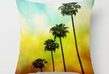 Decorative Pillows / all of these pillows can be found at http://society6.com/honeymh / by Honey Malek