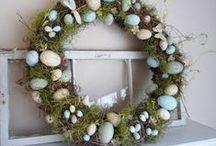 easter - wreath, garland, door decor