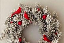 christmas wreath & door decor