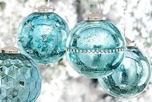 christmas in blue/turquoise