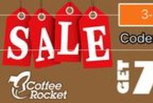 Rocket Promotions / Follow www.coffeerocket.com here to get notified of the BEST coffee and tea promotions!