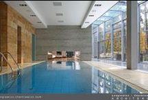 House with a pool - Interiors / Wnętrza luksusowej rezydencji w Konstancinie. Projekt i realizacja: lengiewicz-charkiewicz.com (fotografia: Hanna Długosz)