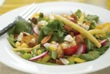 Salad Recipes with Almonds / A varoitey of salad recipes with almonds.