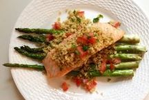 Freekeh with Fish / Freekeh pairs perfectly with fish. The best part - it's healthy and low in calories!