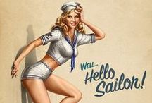 Nautical but Nice / Nautical sailor fashion costume style stripes