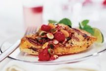 Grilling Ideas with Almonds / Everything you need for a summer feast which includes almonds.