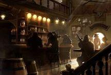 Fantasy/medieval taverns and brothels