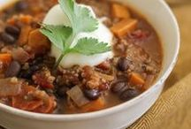 Soups + Chili / Our favorite homemade chili and soup recipes to warm your tummy and your heart.