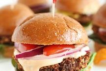 Burgers + Sandwiches / Juicy burgers, veggie burgers, BLTs, clubs, sliders  and more of your favorite foods that come on a bun.