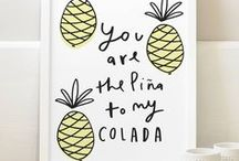 Pineapples / Pineapple decor, recipes, clothing, party ideas, DIYs and more... because our girl Heidi is positively OBSESSED with pineapples.