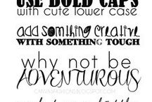 Fonts + Lettering / Cute (and often free!) fonts and hand lettering examples to teach and inspire!